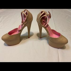 Ellie sexy nude, tan pink bottom shoes nude club
